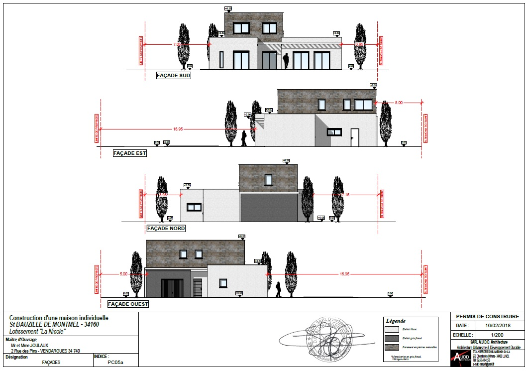 Plans Coupes Facade Permis De Construire Architecture